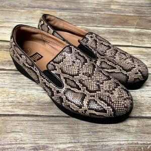Fitflop Faux Snakeskin Print Superskate Loafers